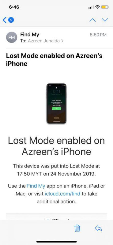 iphone lost mode