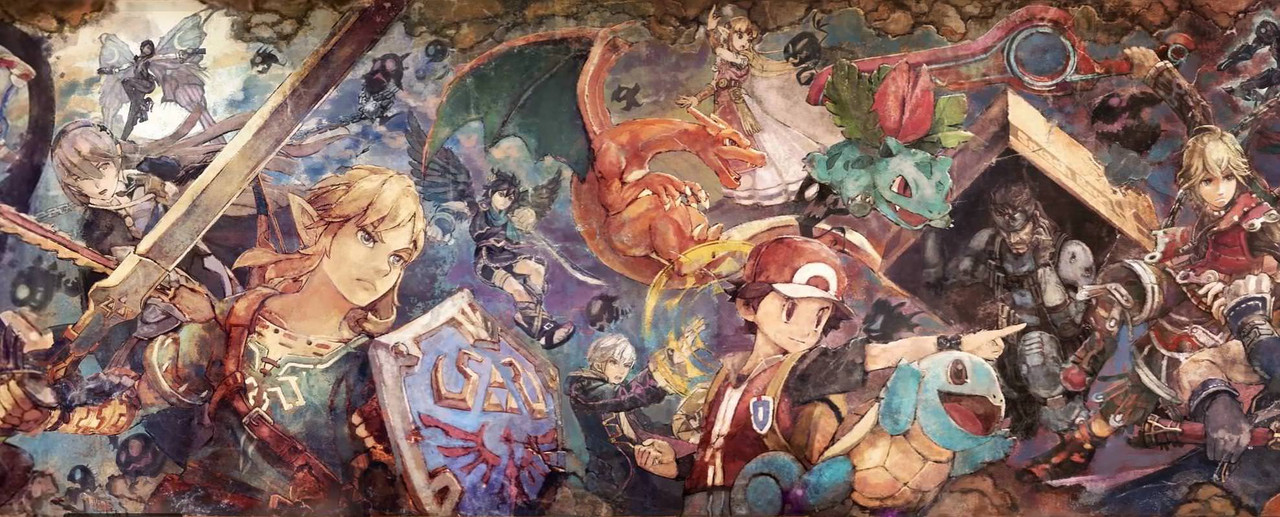 Masahiro Sakurai Comments On The Fantastic SUPER SMASH BROS ULTIMATE Mural