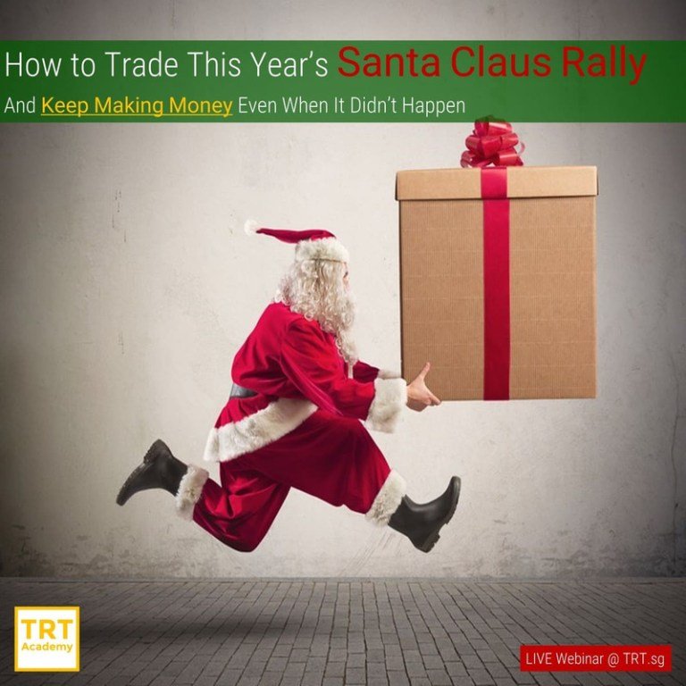19 December – [LIVE Webinar @ TRT.sg]  How to This Year's Trade Santa Claus Rally