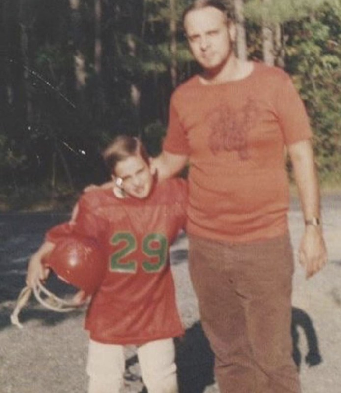 Tom Graves with his dad in his childhood.