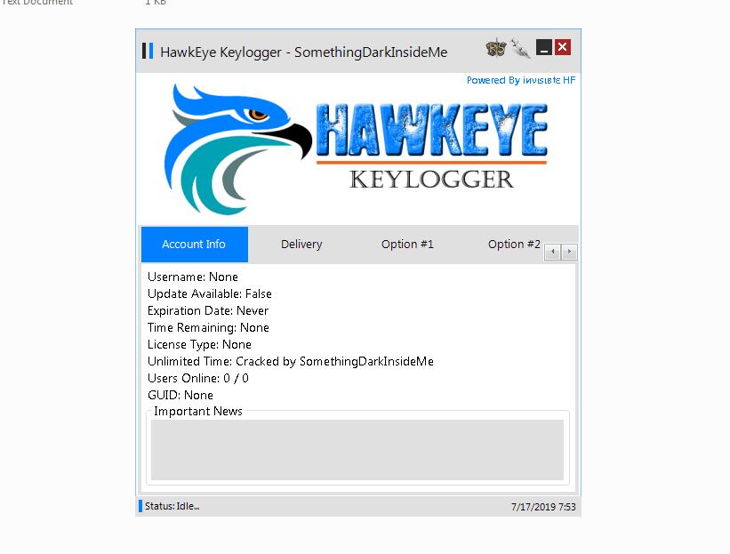 HawkEye Keylogger Cracked