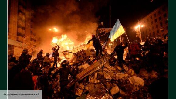 Kép a kijevi Majdanról. Tombol a nacionál-fasizmus, az erőszak