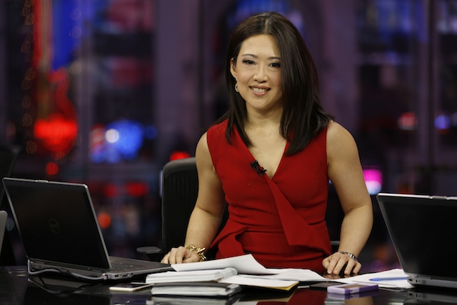 Melissa Lee as an anchor in CNBC