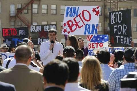 Congressman Beto O'Rourke announces his run for U.S. Senate on Friday, March 31, 2017
