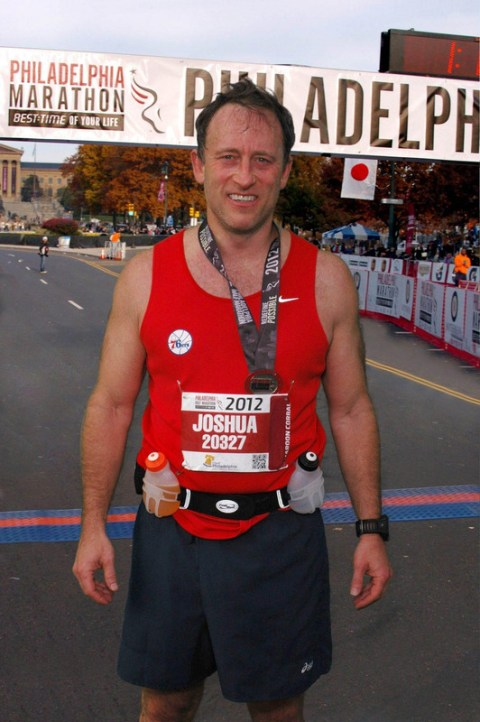 Joshua participating New York City Marathon