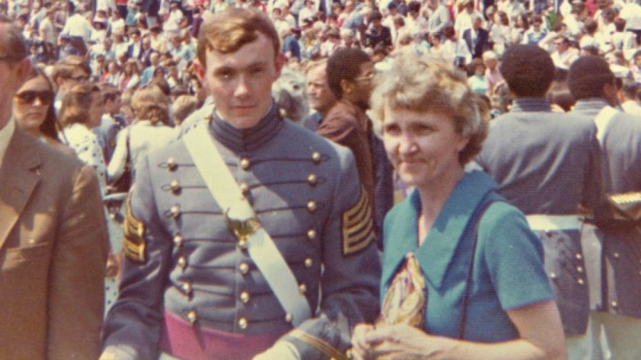 Martin Dempsey with his mom in his early days