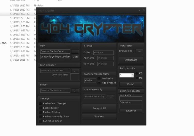 404 Crypter 100 % fud 2019