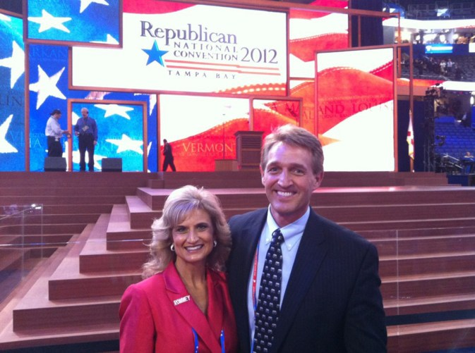 Jeff Flake with his wife