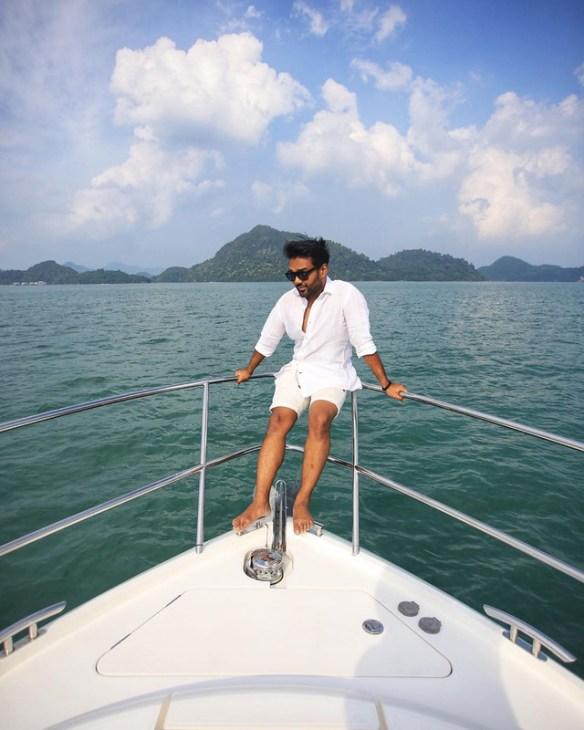 parti bujang pereka fesyen rizman atas kapal mewah