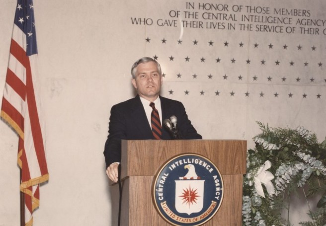 Robert Gates as Deputy Director in the first Memorial Ceremony was held in 1987
