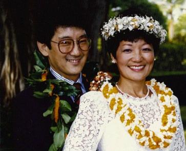 Mazie Hirono with her husband Leighton Kim Oshima