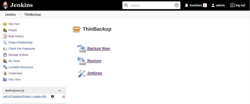 Backup and Restoring in Jenkins