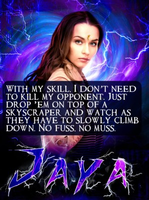 Jaya with a fighter quote