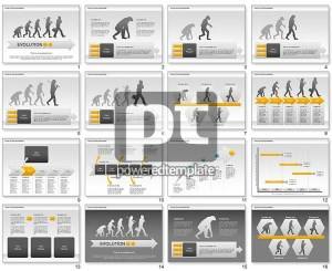 Evolution Diagram for PowerPoint Presentations, Download Now 00934 | PoweredTemplate