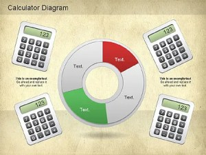 Calculator Diagram for PowerPoint Presentations, Download