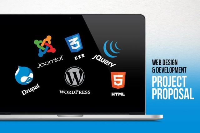 Web Design and Development - Project Proposal PowerPoint Template