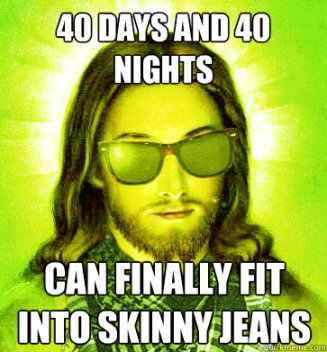 Jesus fasting for 40 days