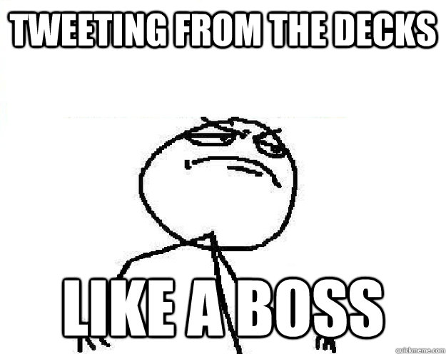 Boss Tweeting