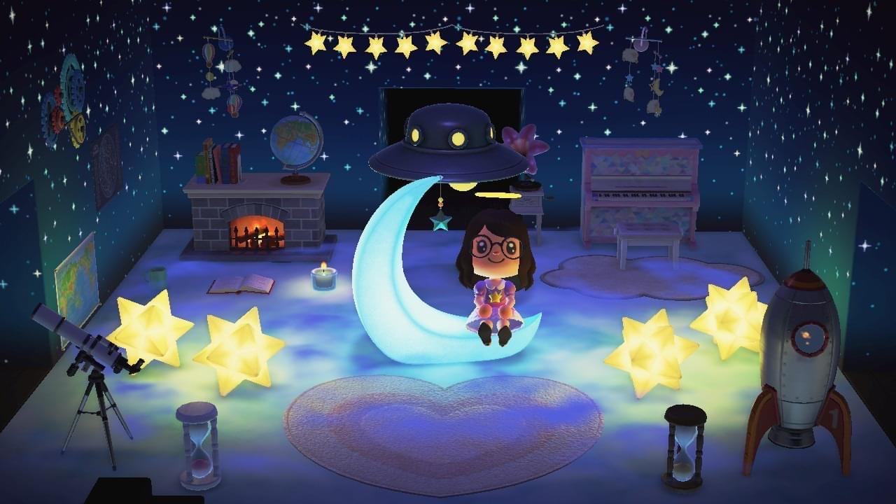 Celeste-inspired Galaxy Living Room! : AnimalCrossing on Animal Crossing Living Room Ideas New Horizons  id=31562