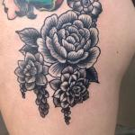 Peony And Succulents By Chelsea Jane Old Towne Tattoo Parlor In Orange Ca Tattoos