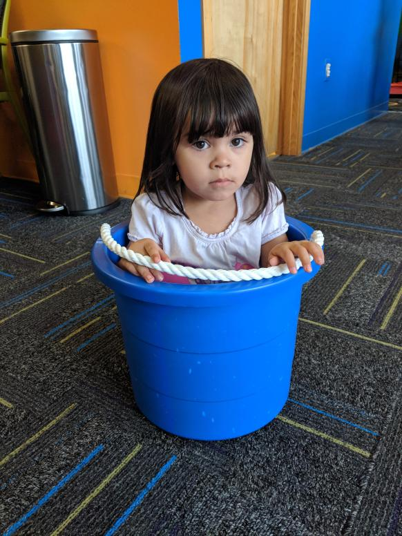Image result for sitting in a bucket