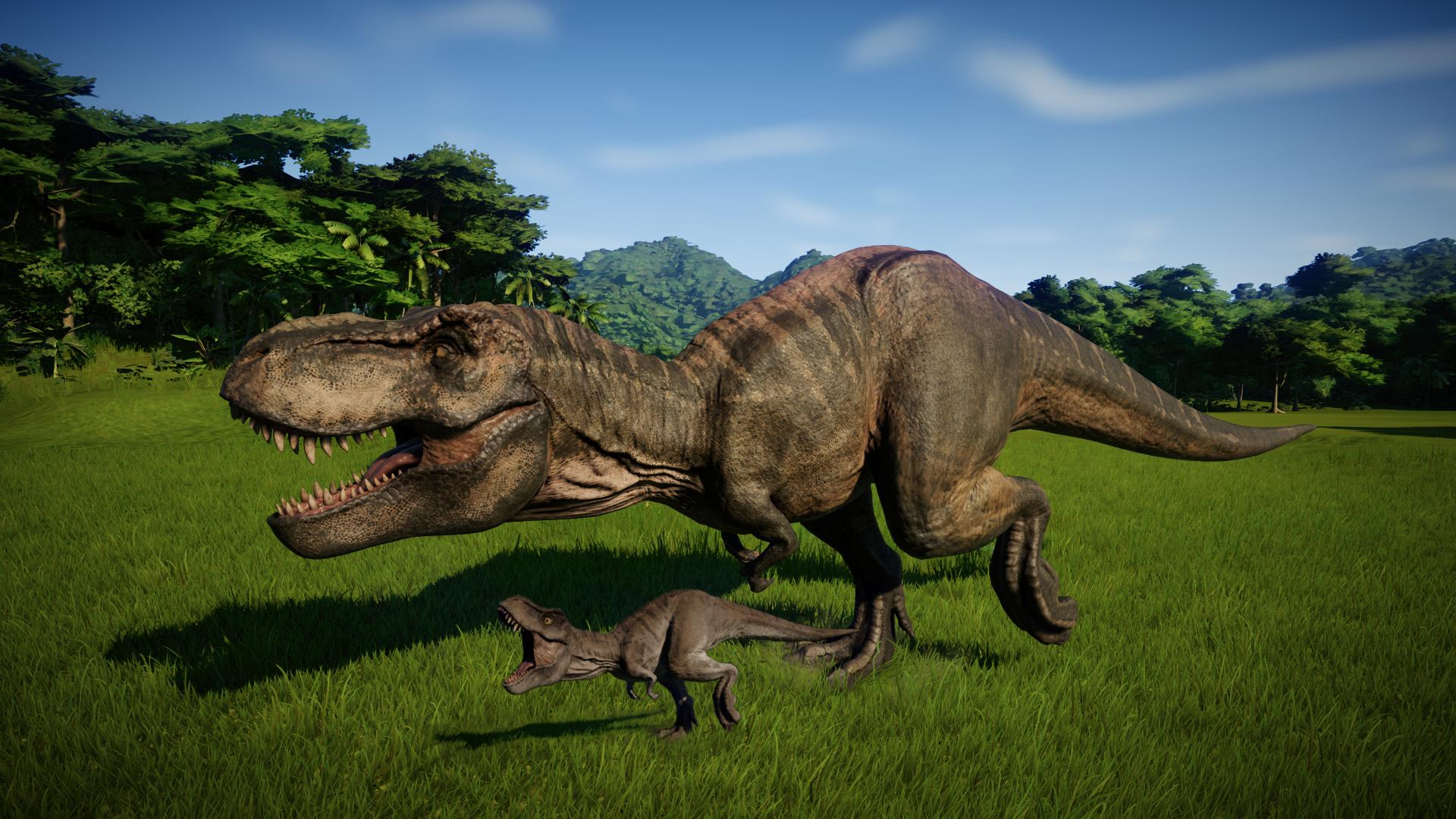 T Rex Baby With Mom Second Attempt Jurassicworldevo