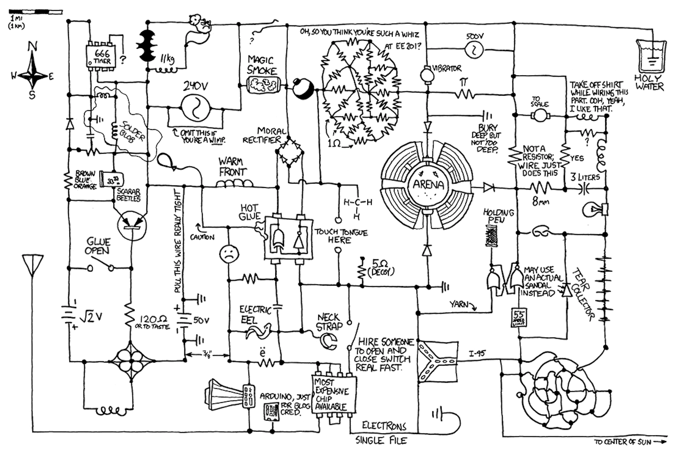 I Rotated All Of The Text In Circuit Diagram Xkcd 730 So