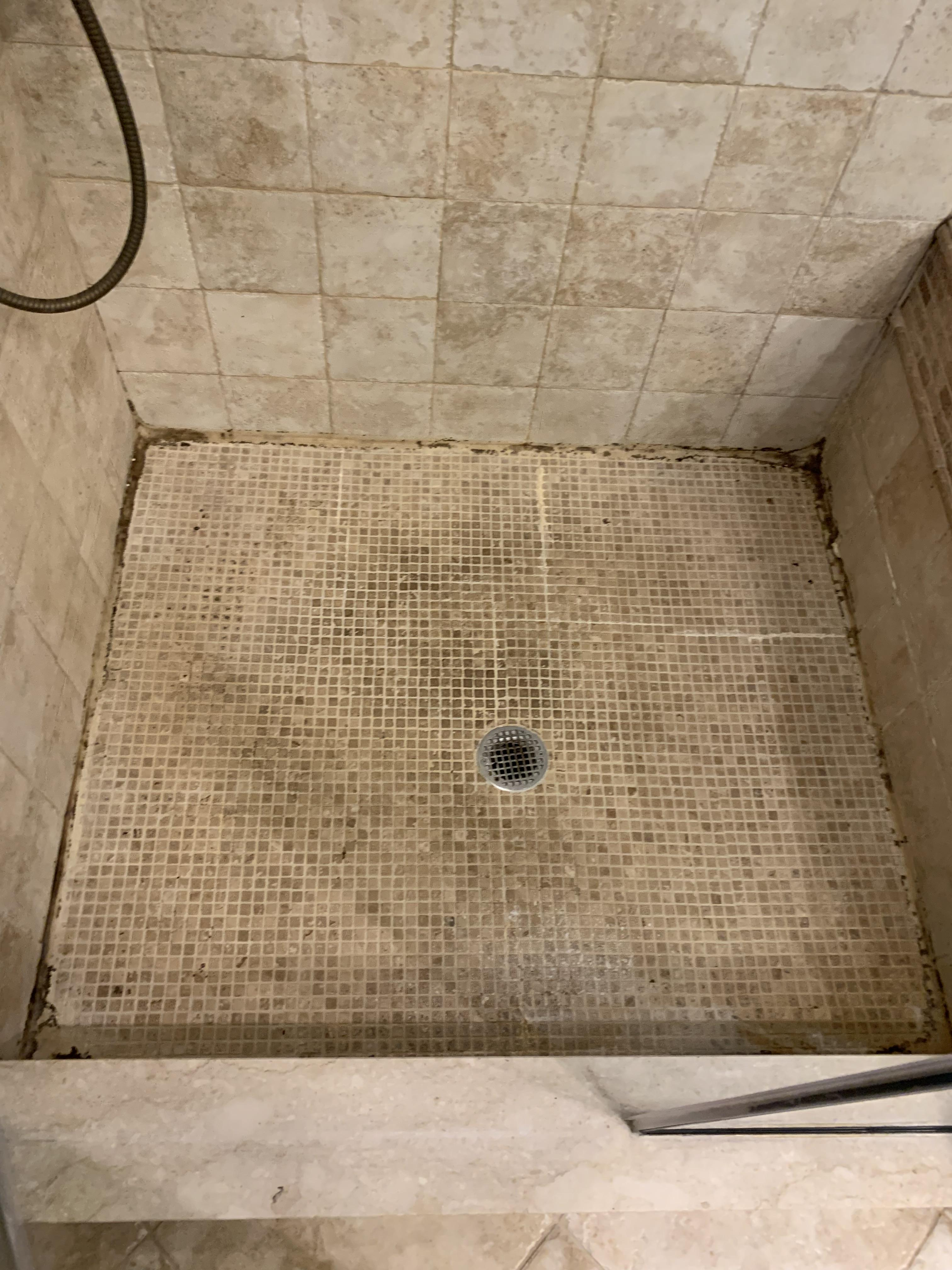 to regrout this small shower contractor