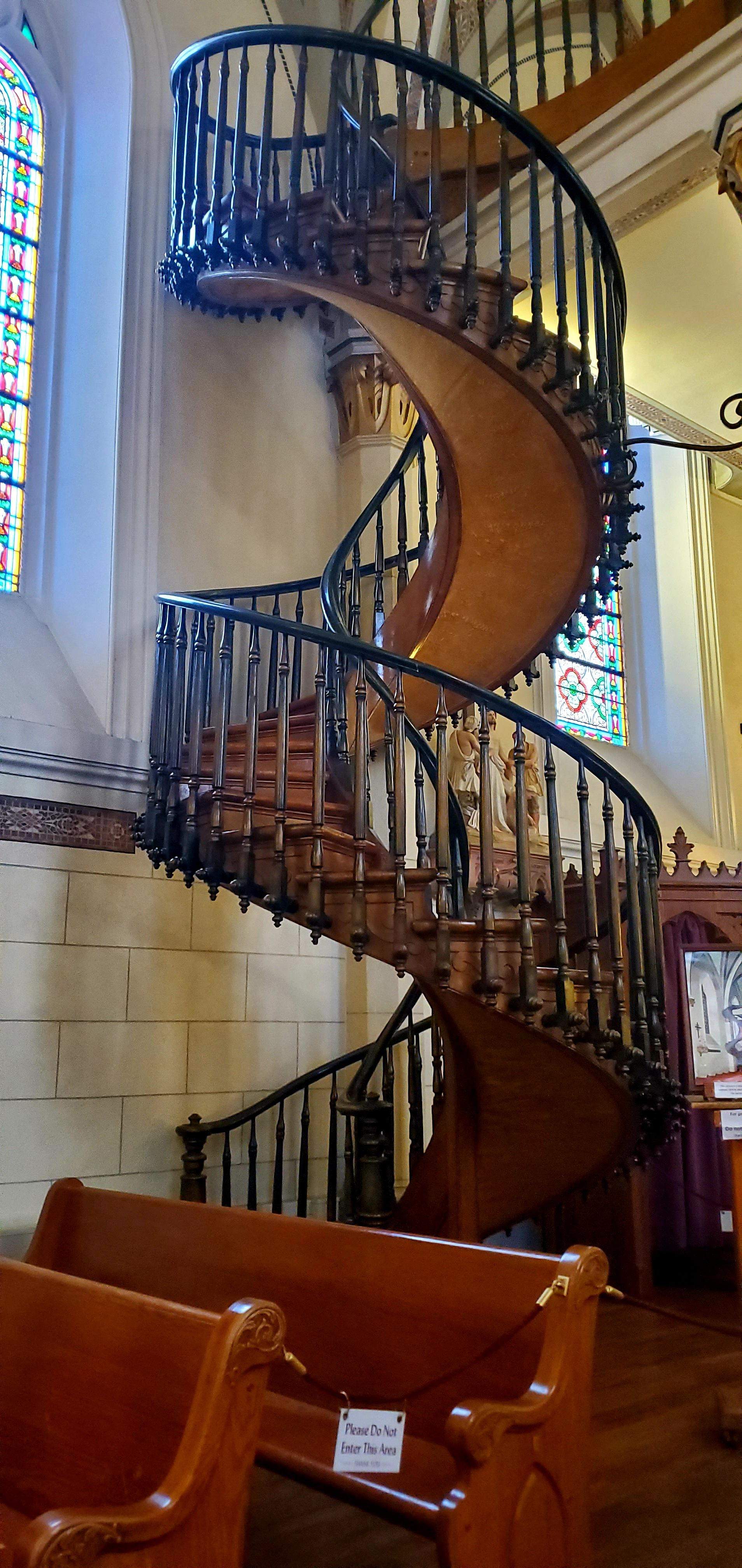 Helix Staircase Of Loretto Chapel Santa Fe Nm Crazystairs   Stairway Of Loretto Chapel   Original   Sister   Story   Spiral   Mysterious