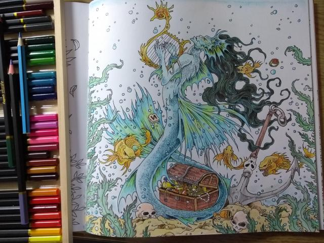 Siren from Mythomorphia by Kerby Rosanes: Coloring