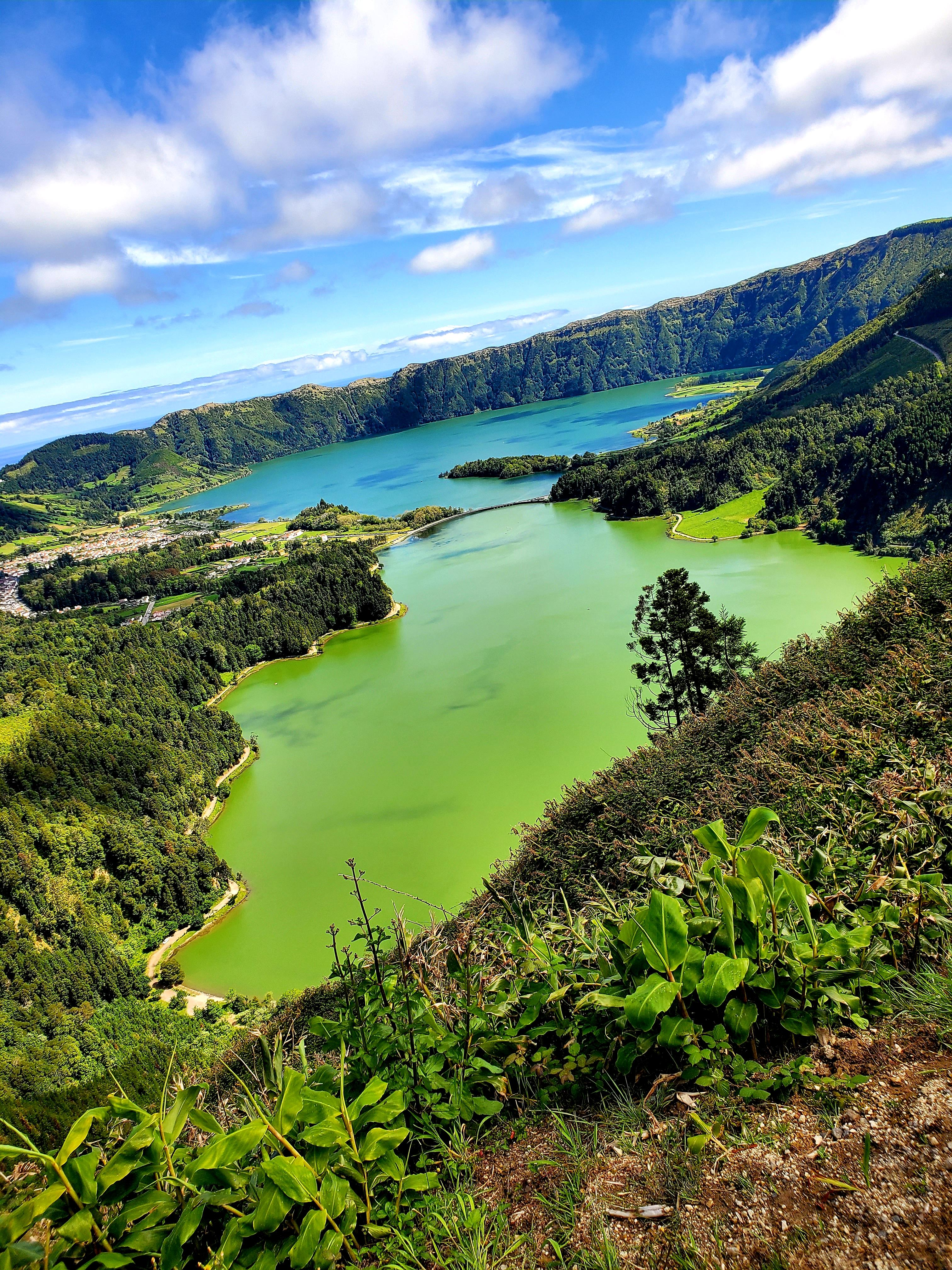 Blue And Green Lake In The Azores. Amazing Sight [720×1520