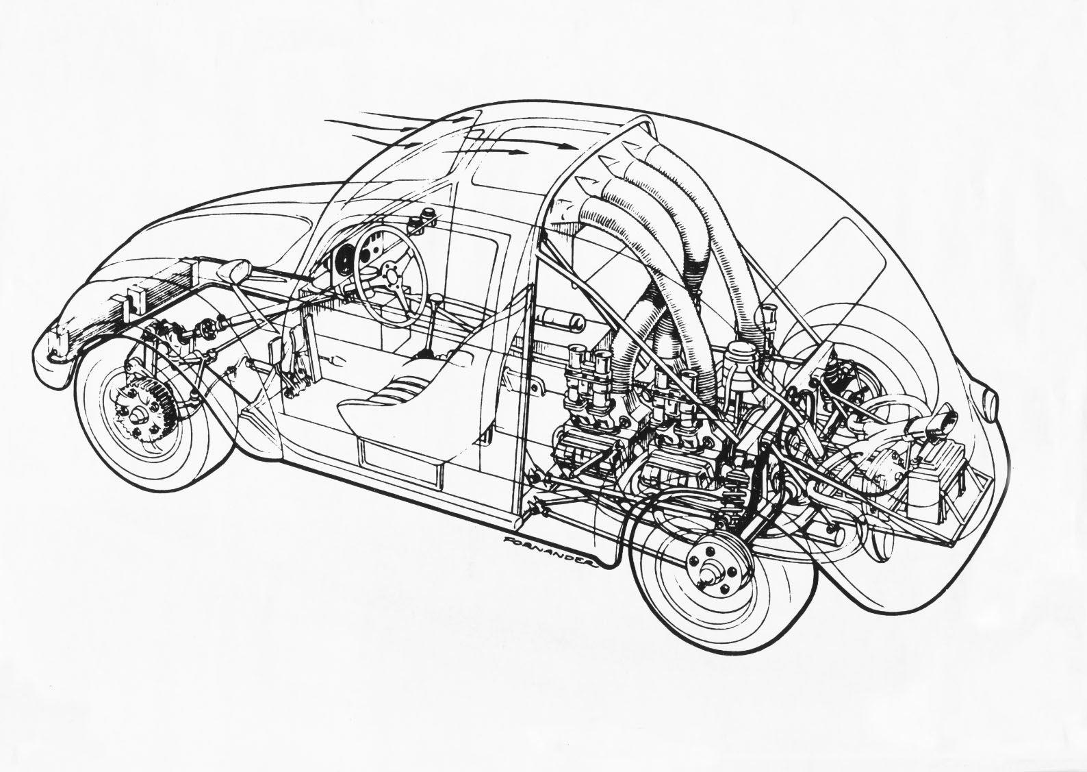 2x Midengine Rally Beetle Yeah That S What I Said Layout Schematic Not Mine Beetle