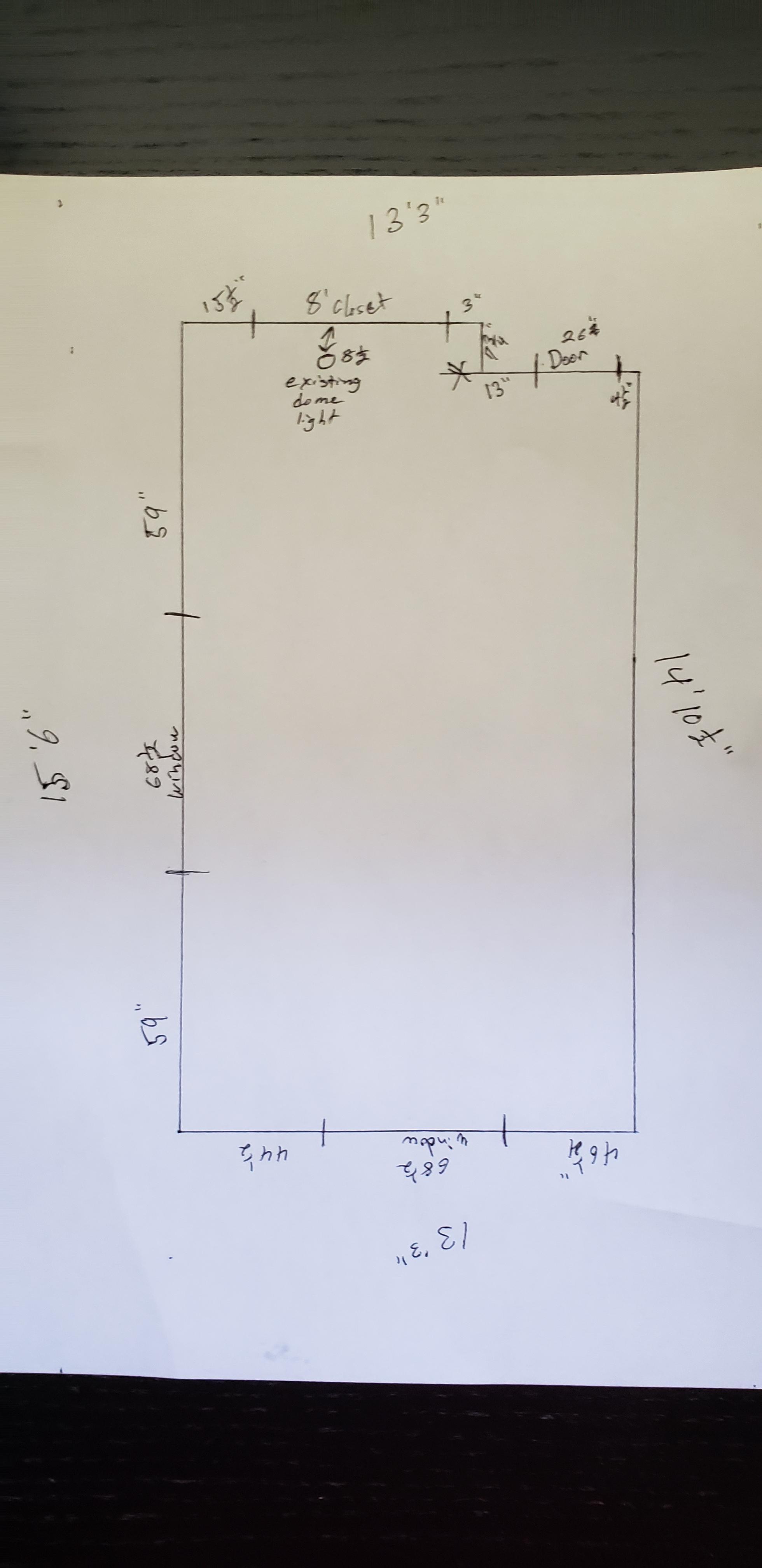 bedroom recessed lighting layout help