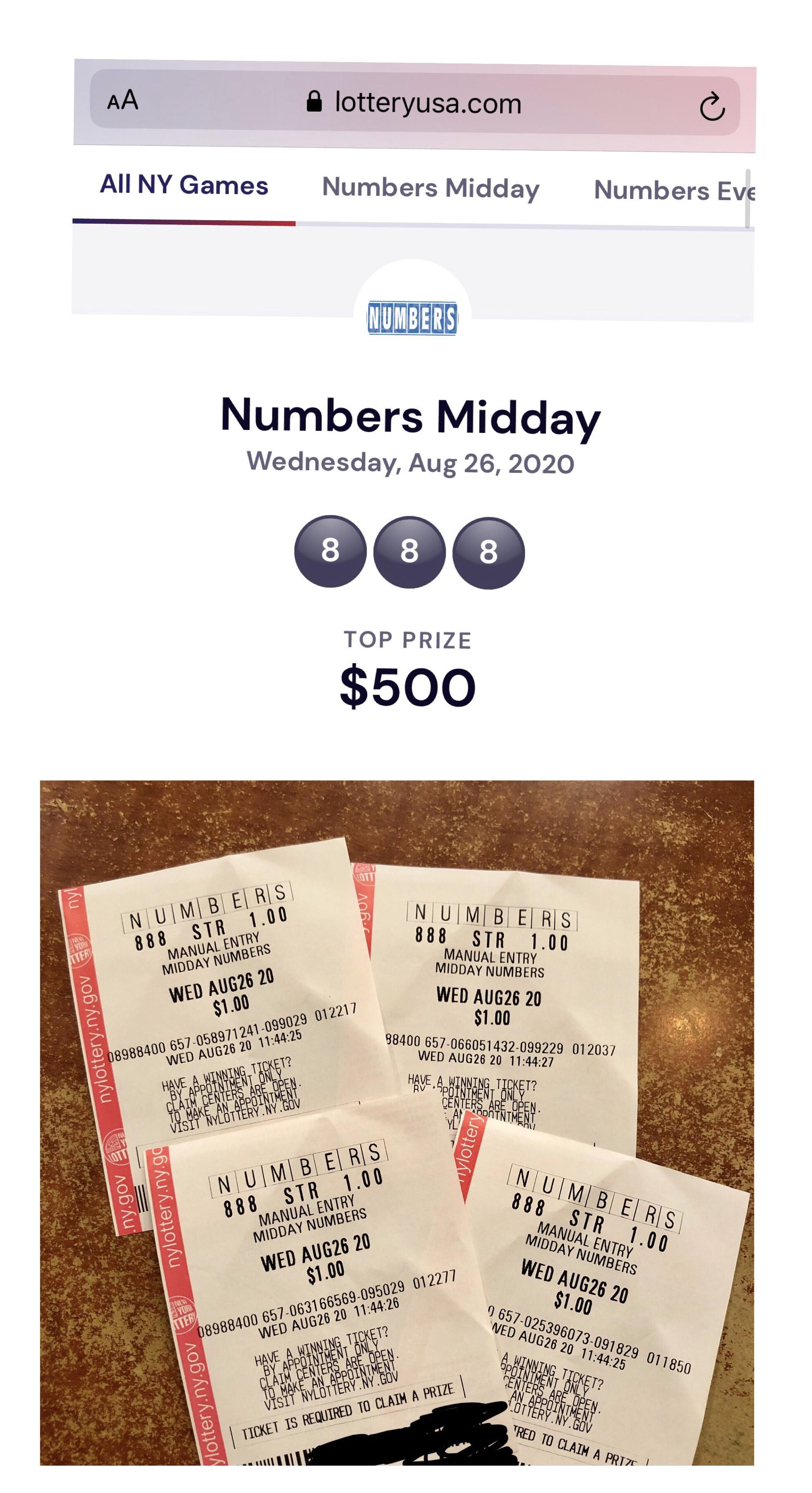 Ny Lottery Numbers Pick 3 4 Gt 2 000 Lottery