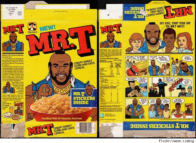 Mr. T Cereal (1984-1993) 'I pity the fool who don't eat my cereal!' :  nostalgia