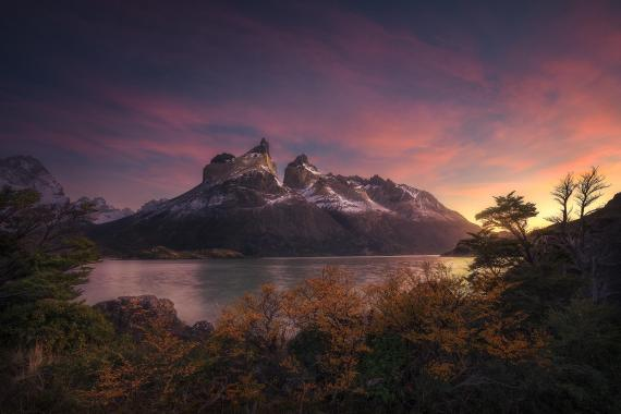 sunrise over Nordenskjold Patagonia