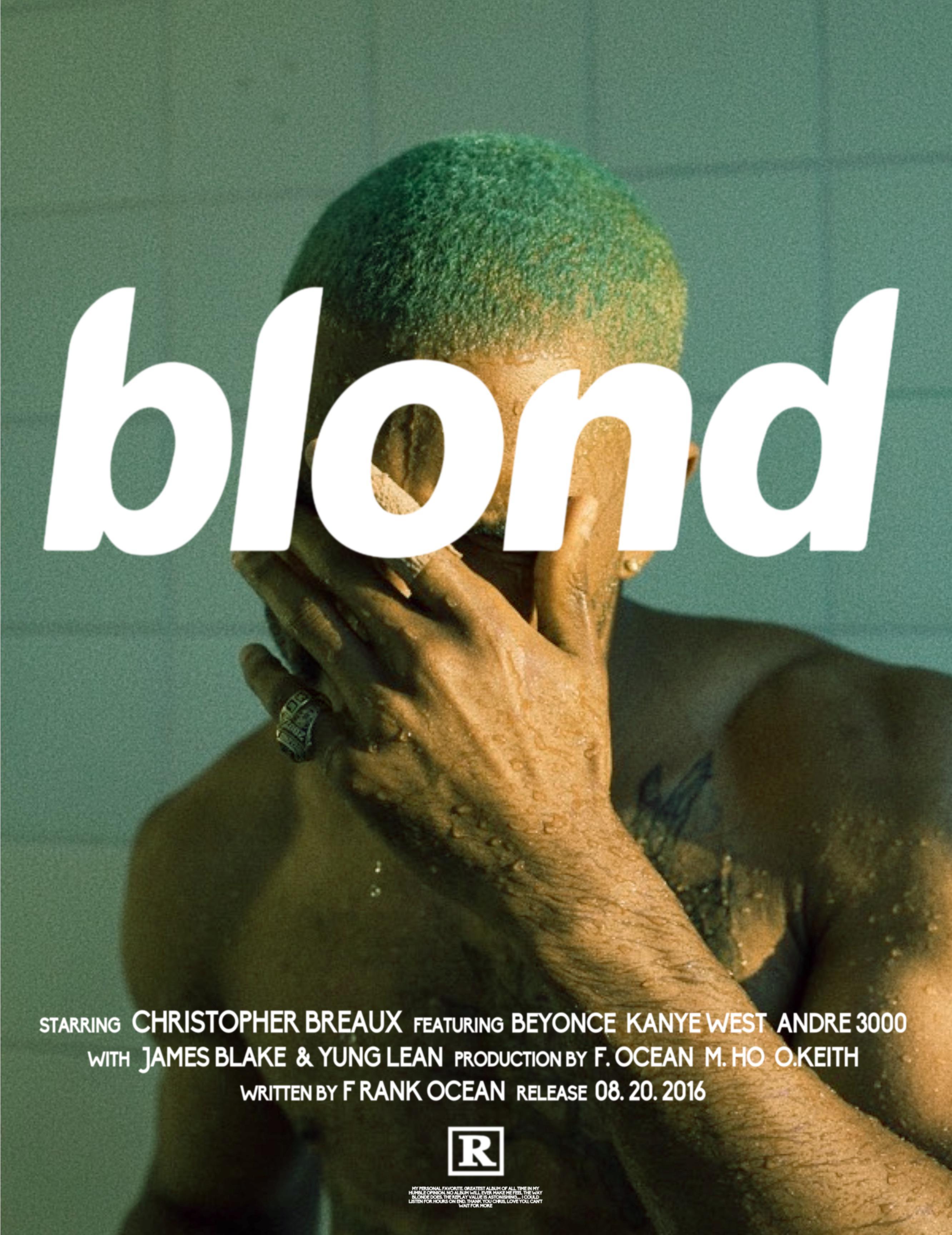 blond movie poster frankocean