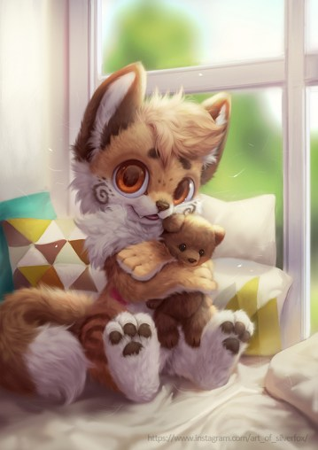 r/furry - I Love My Teddy! (@silverfox5213)