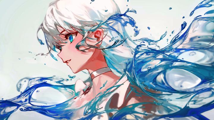 Aqua Girl [1920×1080]