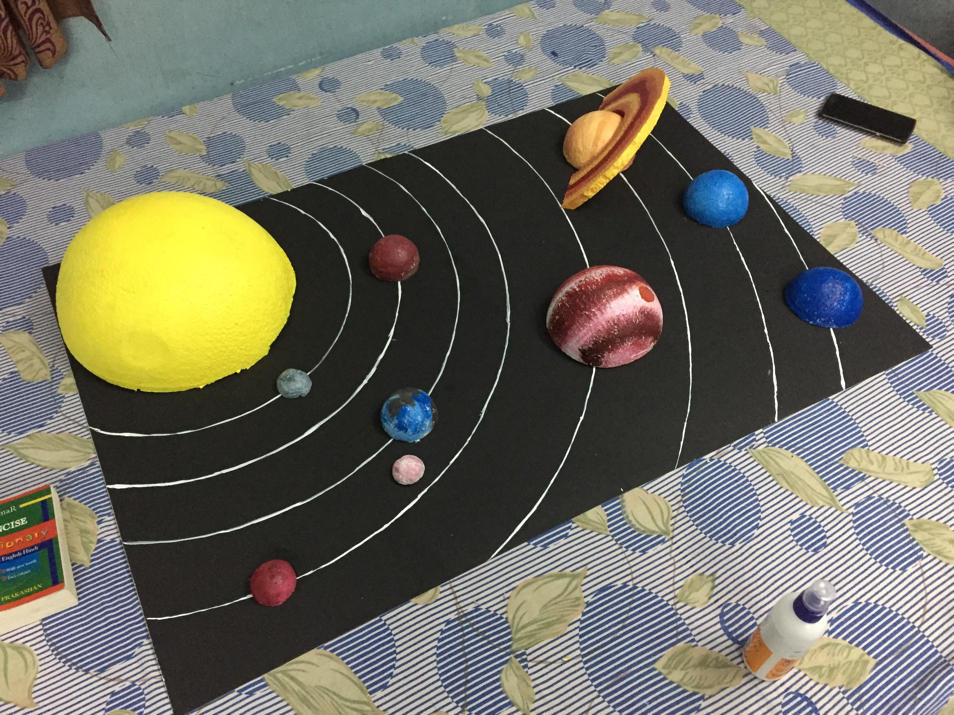 I Made A Solar System Model Chart For My Cousin She Loved