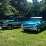 The C10 Is In The Process Of Being Sold And We Had To Get One Last Picture Of It With The Bronco Trucks