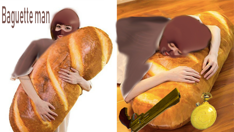 this baguette body pillow is a spy