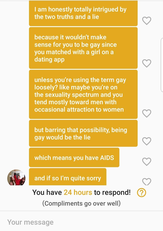 My Two Truths And A Lie Is I Am I Have Aids I Am
