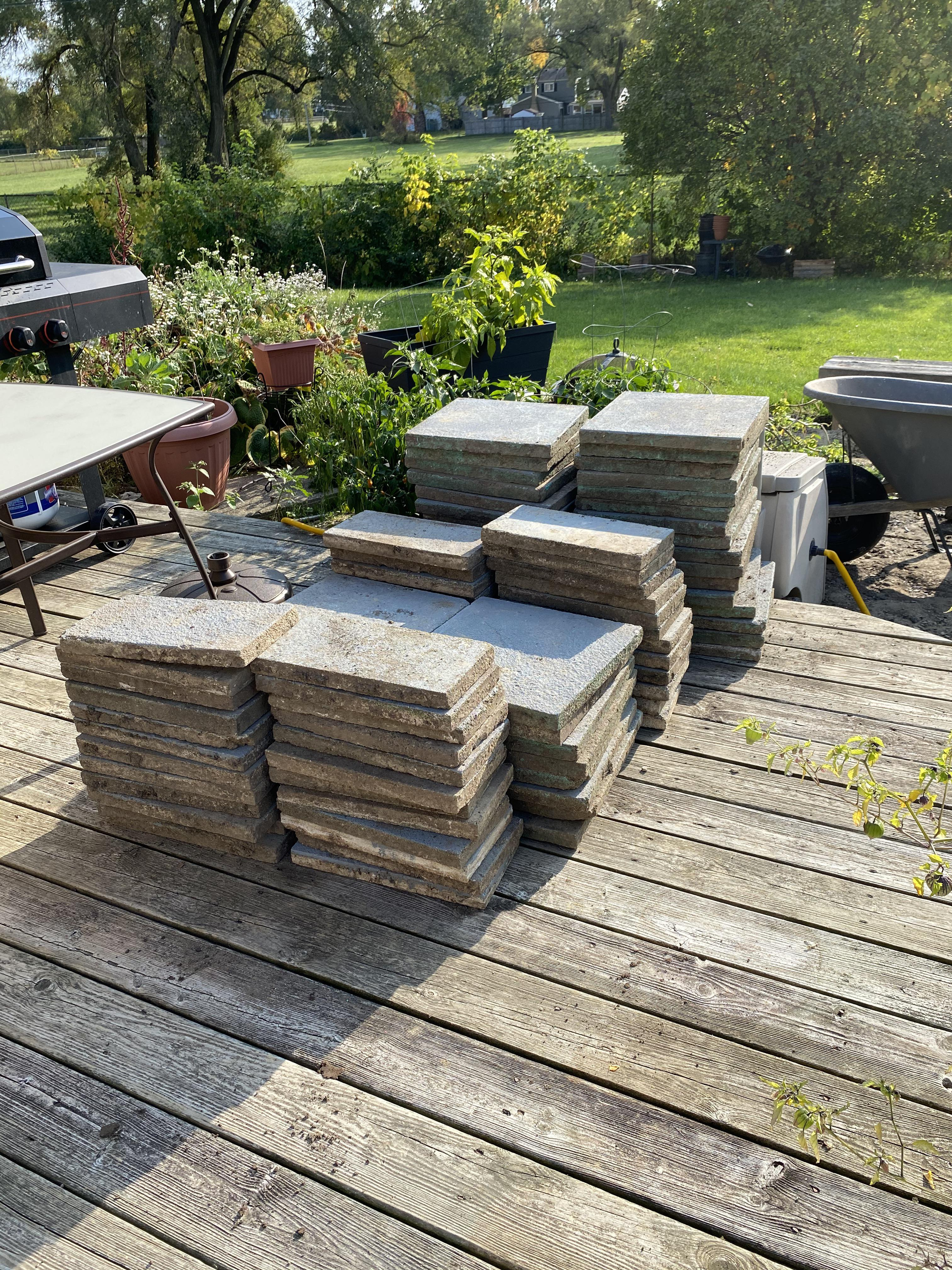 how to paint concrete patio pavers