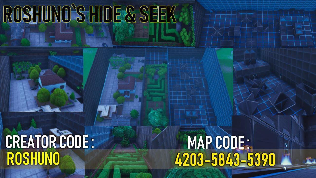 Roshunos Hide And Seek Map Fortnitecreative