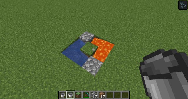 Double cobblestone generator: Minecraft