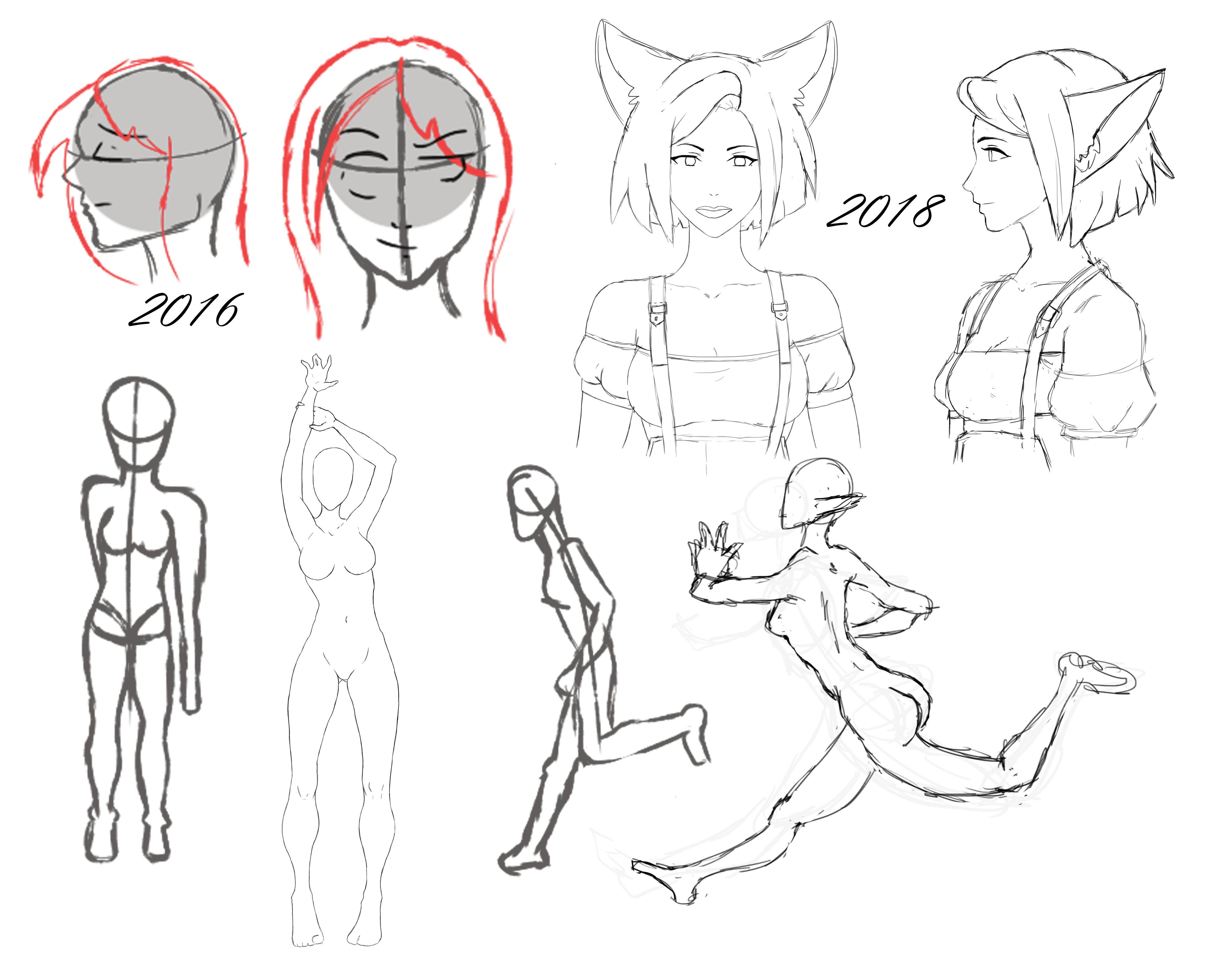 After Two Years Of Drawing I Can Draw Faces And Poses I M