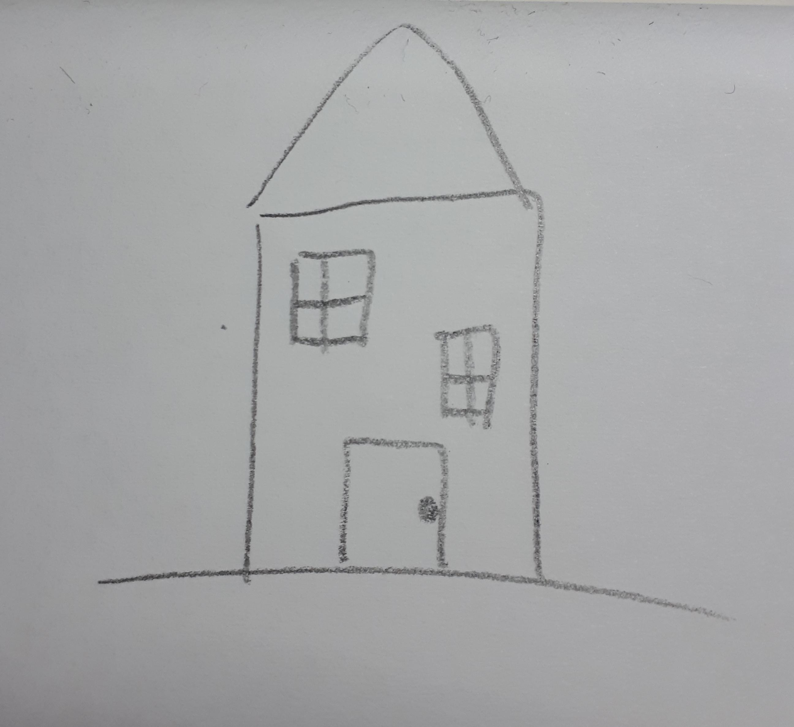 Today I Saw My Dream House But It S Rude To Take Pictures Of Someone Else S House So I Tried To Draw It Here Is My Attempt Notinteresting