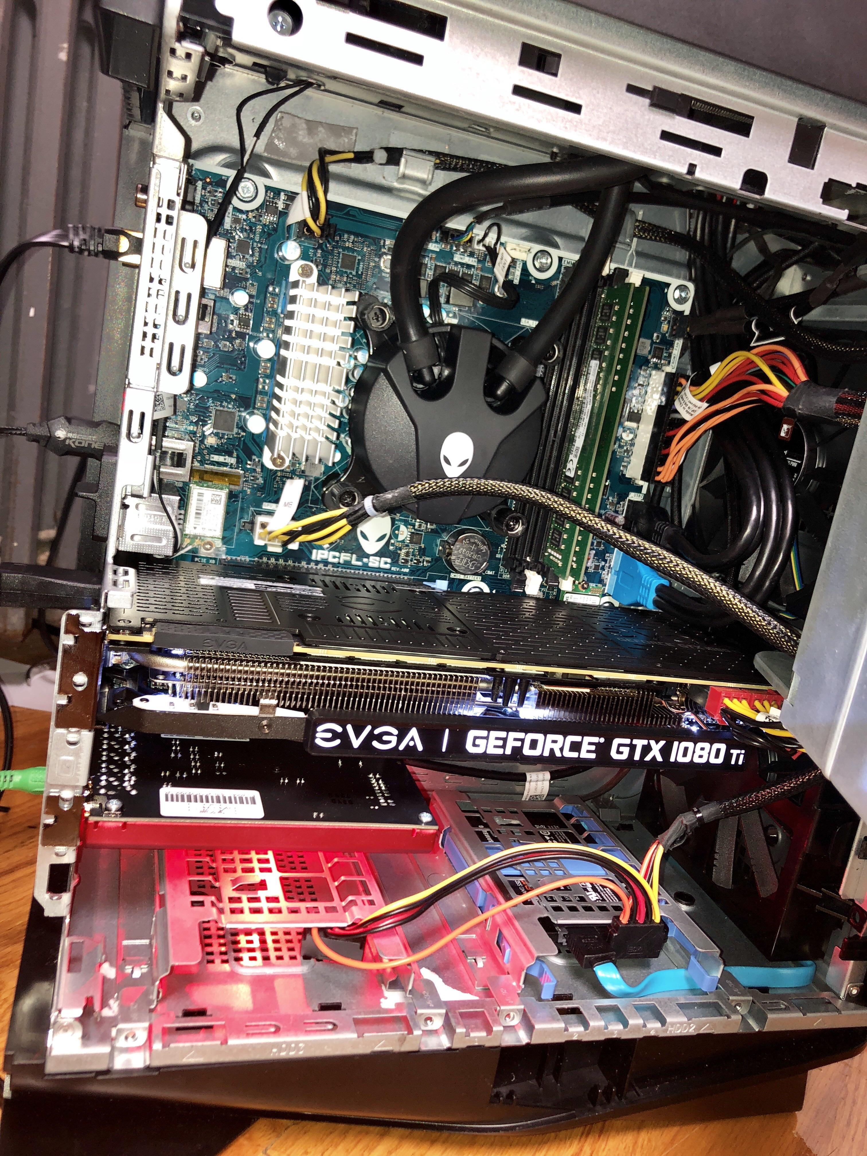 Alienware Aurora R9 Liquid Cooling Maintenance Novocom Top